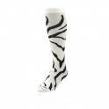 TCK Krazy Socks Zebra Design (WHT)